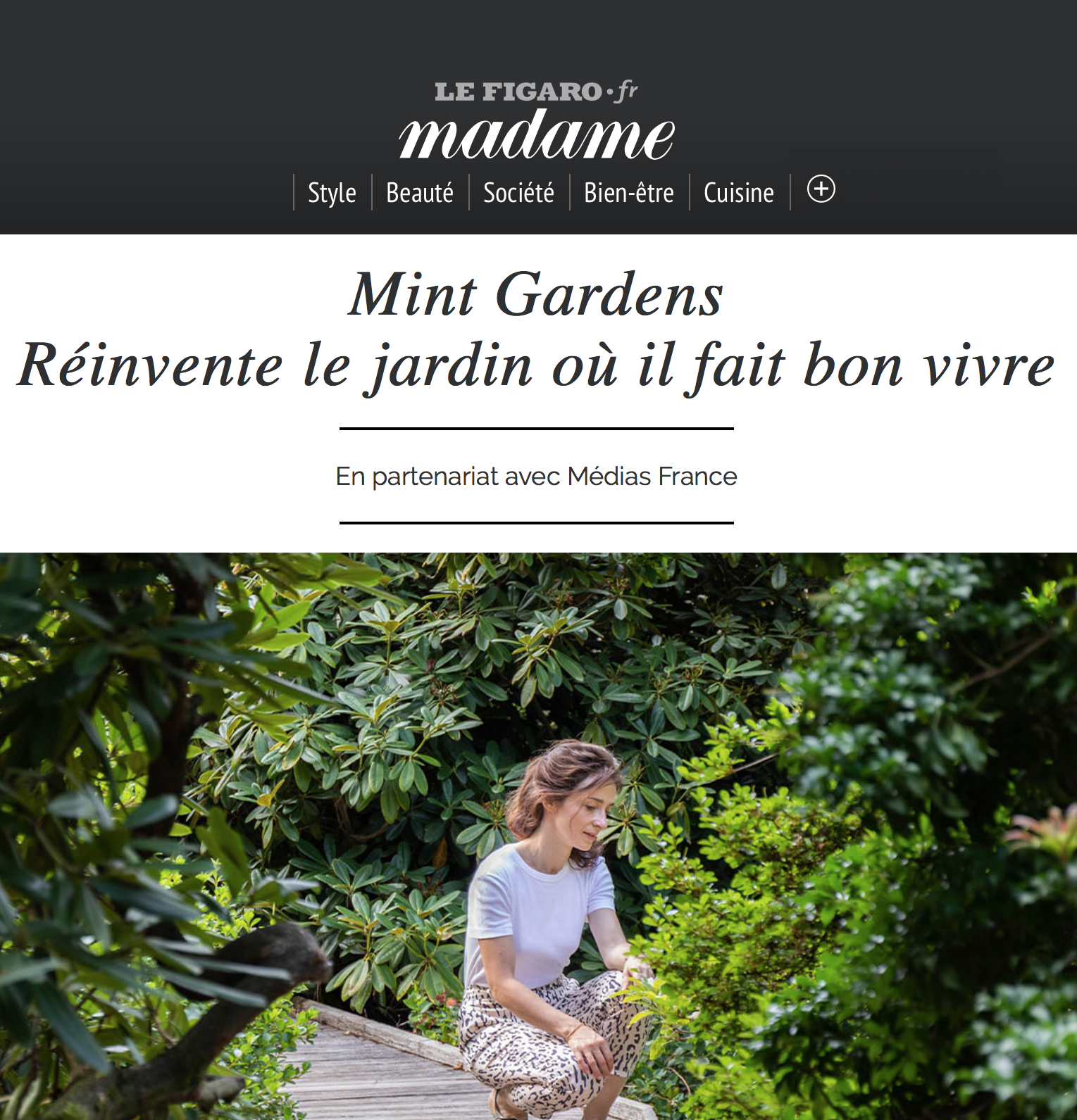 Mint Gardens - Article Madame Figaro
